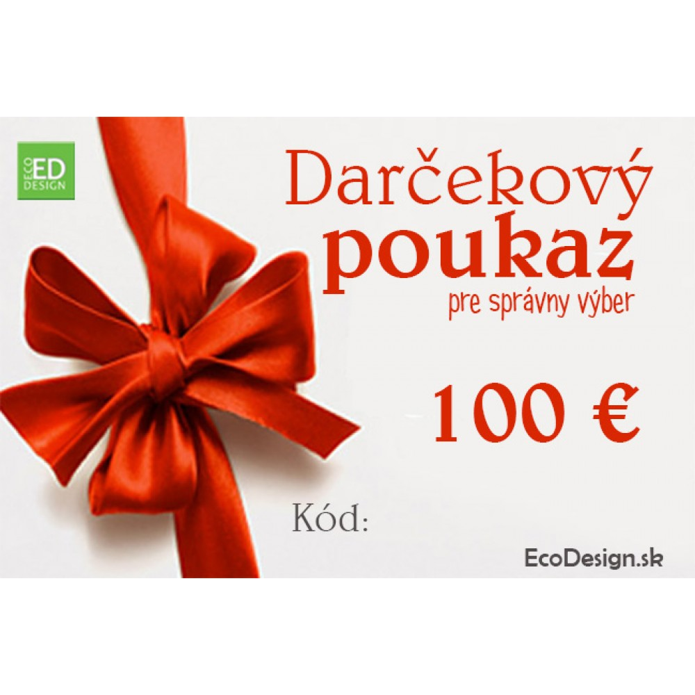 9911b9aef Darčekový poukaz pre správny výber / EcoDesign.sk