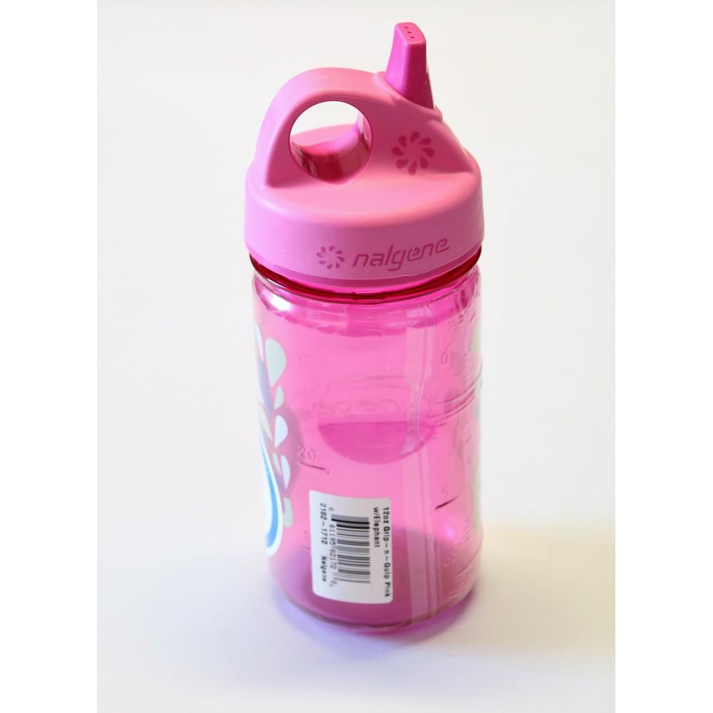 Nalgene detská fľaša GRIP-N-GULP Pink Elephant 350 ml   EcoDesign.sk 2c9afc7bf24